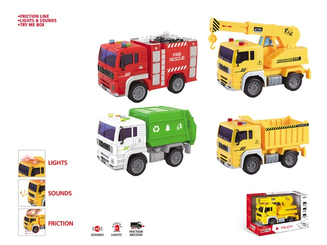 51174 - FRICTION TRUCK ASSORTMENT